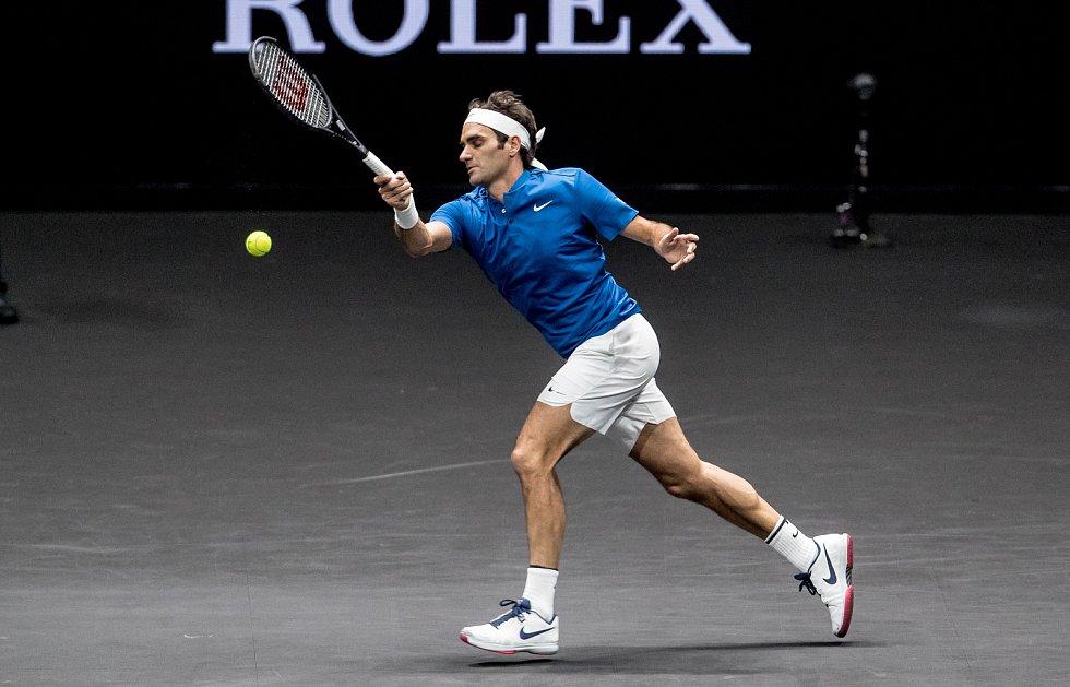 Laver cup, hraný 23. září v Praze. Roger Federer
