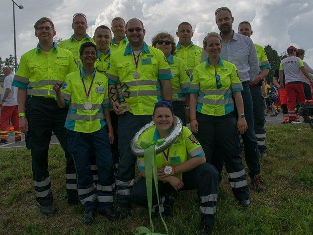 Stříbrný tým pražských záchranářů.