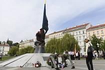 Pietní akt na pražském Klárově  - Český svaz bojovníků za svobodu uspořádal 8. května 2019 na pražském Klárově pietní akt k uctění památky domácího odboje proti nacistické okupaci.