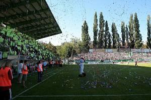 Stadion Ďolíček v Praze Vršovicích.