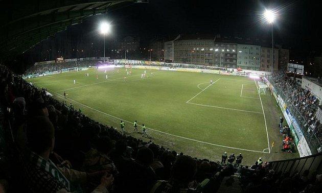 Stadion Ďolíček vPraze Vršovicích.