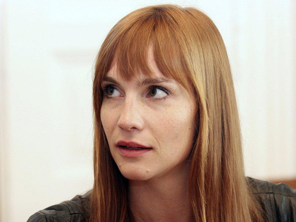 Herečka Hana Vágnerová.