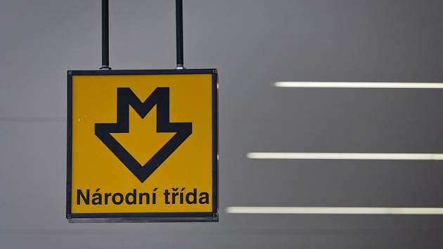 Stanice metra Národní třída. Ilustrační foto.