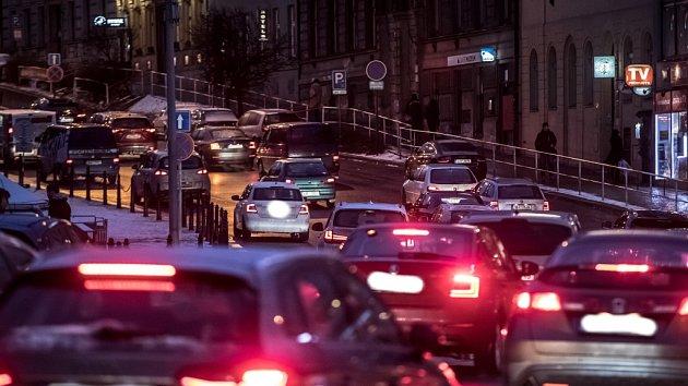 Smog z dopravy v Praze.