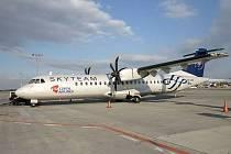 Letadlo ATR72 společnosti České aerolinie.
