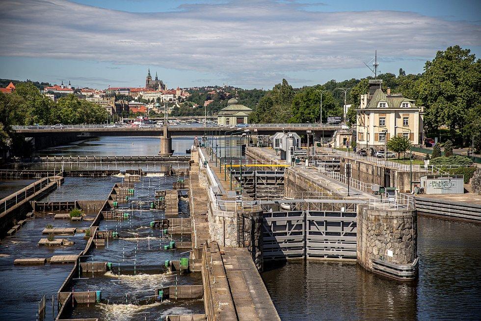 Novináři si mohli prohlédnout zrekonstruovaný Negrelliho viadukt v centru Prahy 29. května 2020. Na snímku plavební komora na Štvanici.