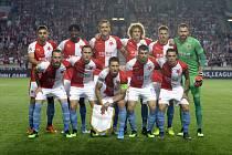 Odvetné utkání 4. předkola fotbalové Ligy mistrů: Slavia Praha - CFR Kluž, 28. srpna 2019 v Praze.
