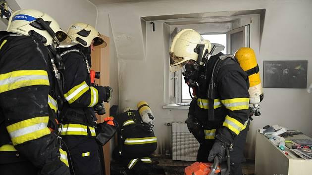 Požár bytu. Ilustrační foto.