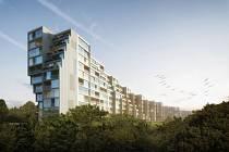 Vizualizace bytového komplexu na Žižkově. Ilustrační foto.