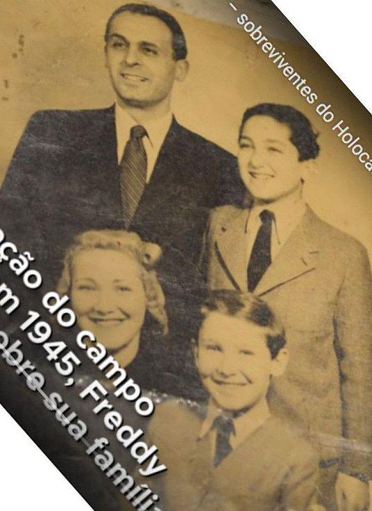 Freddy s rodiči a bratrem před válkou.