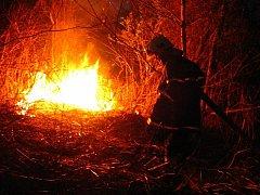 Snímky ze zásahů dobrovolných hasičů.