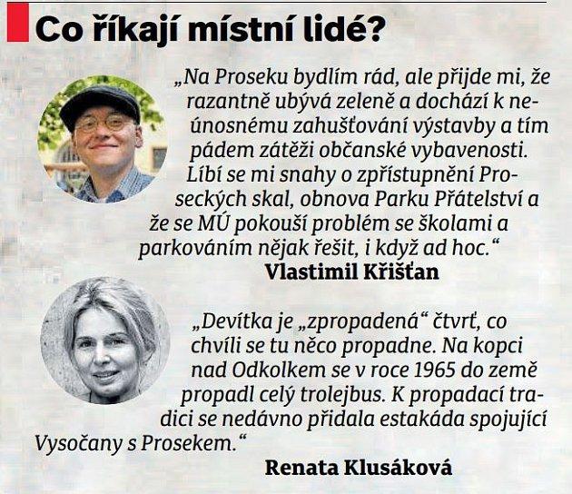 Místní lidé - Prosek.