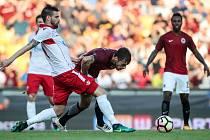 Zápas 3. předkola Evropské ligy mezi AC Sparta Praha a Crvena Zvezda Bělěhrad, hraný 3. srpna v Praze.