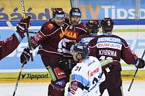 Utkání 52. kola hokejové extraligy: HC Sparta Praha - Bílí Tygři Liberec