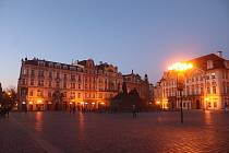 Centrum Prahy bylo v sobotu odpoledne a v podvečer skoro prázdné.