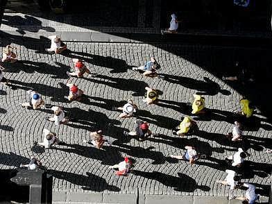 Běžci letošního maratonu se více pohybovali ve středu města než v minulých ročnících.