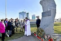 Památník obětí dopravních nehod, nultý kilometr dálnice D1.