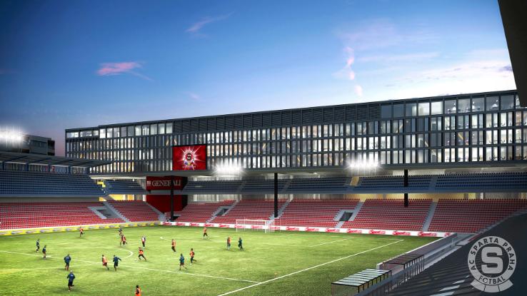 Vizualizace podoby přestavby stadionu Sparty.