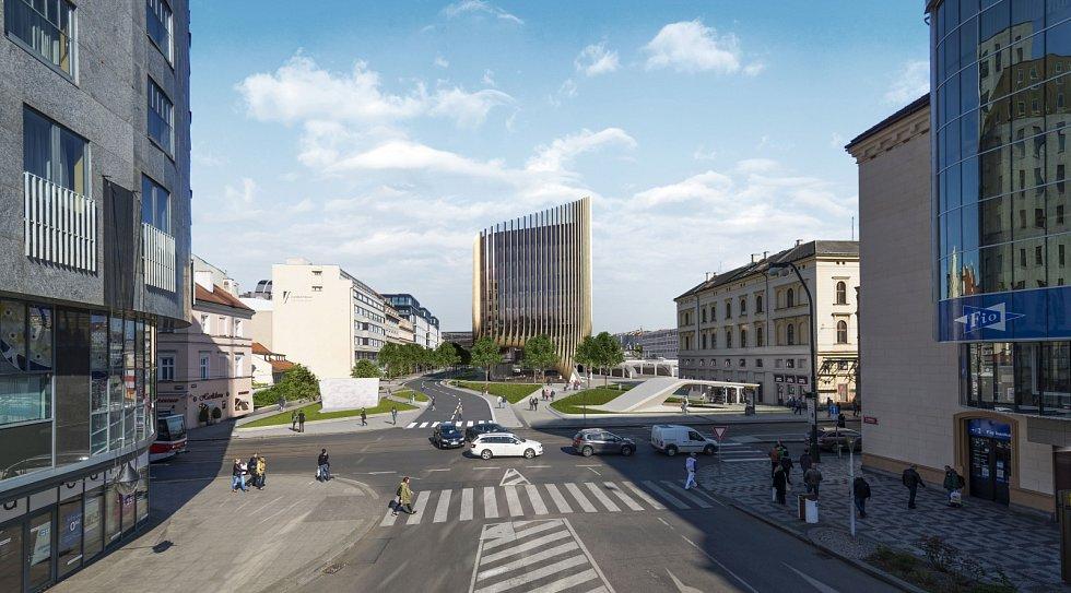 Masarykovo nádraží - vizualizace.