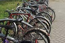 Parkoviště pro cyklisty. Ilustrační foto.