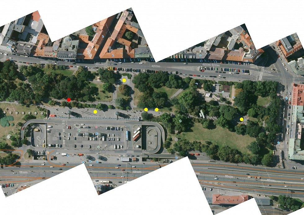 Vizualizace pisoárů na Hlavním nádraží