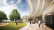 Vizualizace nové podoby čestlického obchodního centra Spektrum