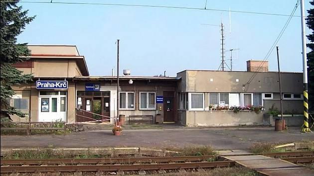 Výpravní budova nádraží Praha - Krč.