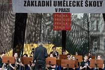 Hudební maraton v Praze.