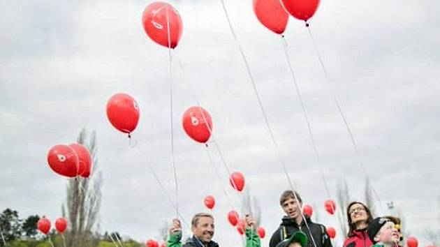 Oslava Světového dne hemofilie. Ilustrační foto.