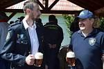 Sobotní křest na ploše před vstupem do velkopopovického pivovaru znamenal narození piva Kozel Florián.