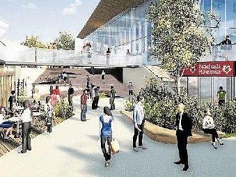 Vizualizace návrhů nové podoby stanice Nádraží Holešovice.