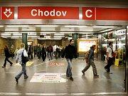 Stanice metra Chodov.