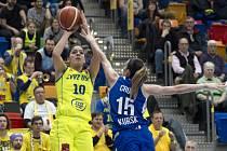 Basketbalistky USK Praha prohrály s dosud neporaženým Kurskem