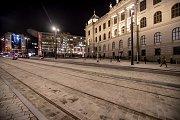 Prostranství mezi novou a starou budovou Národní muzea v Praze 16. ledna.
