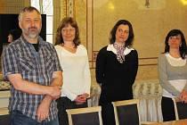 Zprava - Zdeněk Bukvář, Dagmar Marvanová a Jana Styblíková - pražští semifinalisté.