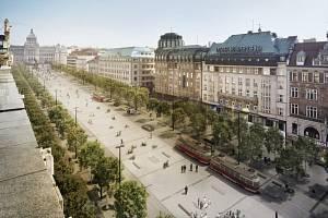 Revitalizace Václavského náměstí. Vizualizace.