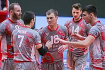 Jakub Janouch (uprostřed) se svými spoluhráči.