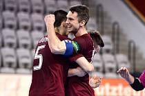 IV. zápas čtvrtfinále play off Chance futsal ligy: AC Sparta Praha - Nejzbach Vysoké Mýto 3:2 (2:1), 26. dubna 2016.