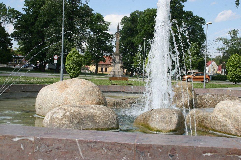 Hositivice, fontána