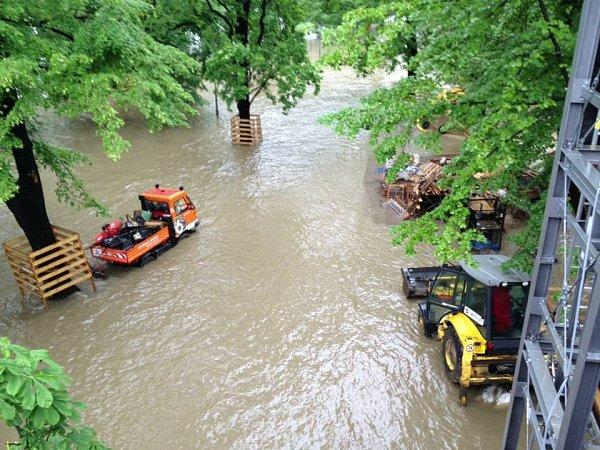 Povodňová situace vPraze 1.