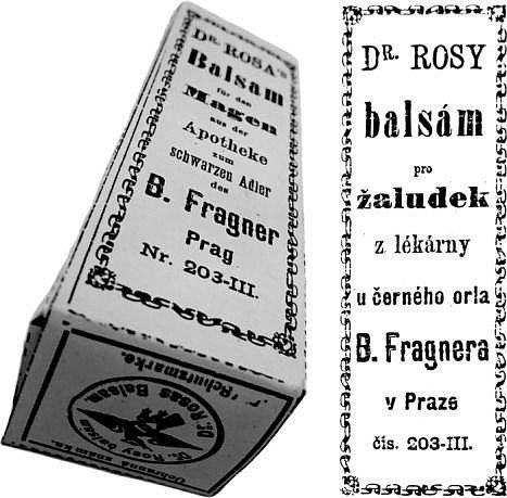 Inzerce lékárny U Černého orla.