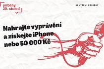 Plakát soutěže Příběhy 20. století.
