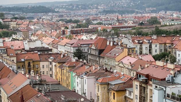 Ilustrace tématu bydlení 3. května v pražských Nuslích.