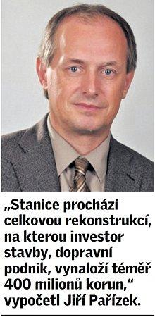 Citát Jiřího Pařízka krekonstrukci stanice pražského metra Národní třída.