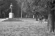 Socha Fučíka v Parku kultury a oddechu Julia Fučíka