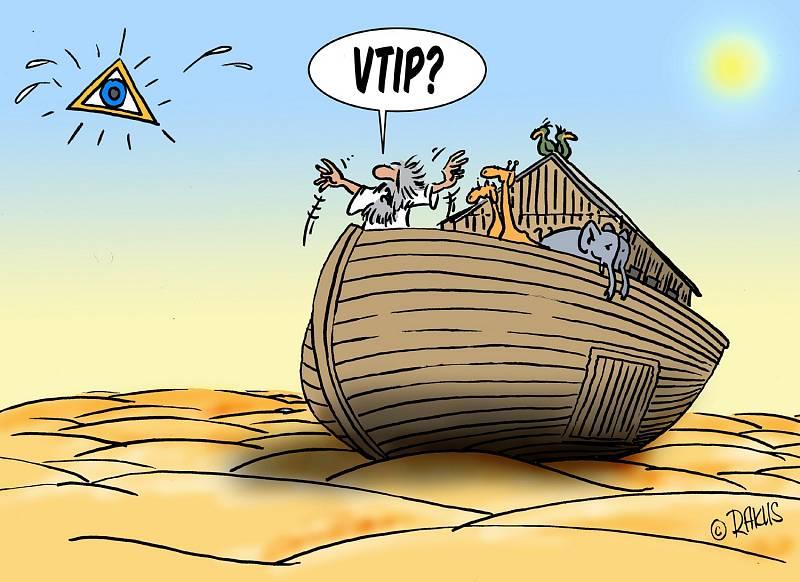 Výstava kresleného humoru na téma sucho - Rakus.