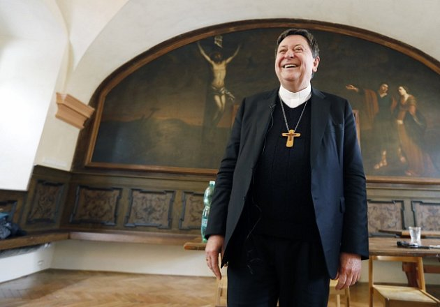 Brazilský kardinál Joao Braz de Aviz v Praze.