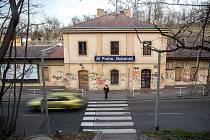 Nádraží Bubeneč v Praze.