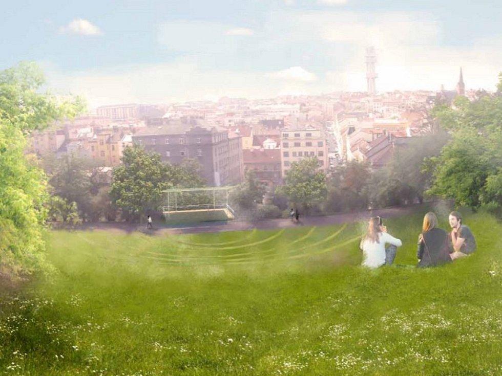 Pohled na budoucí přírodní amfiteátr.