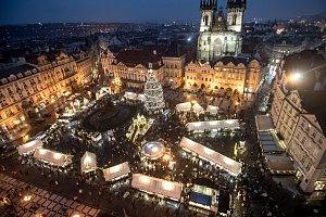 Vánoční trhy na pražském Staroměstském náměstí